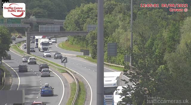 Latest CCTV Camera Feeds from the A55 Road - Traffic Cameras UK